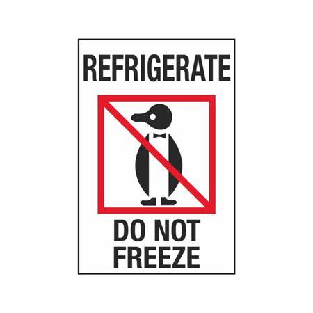 Refrigerate Do Not Freeze - 4 x 6