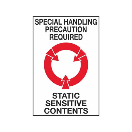 Special Handling Precaution Required Static Sensitive Contents - 4 x 6