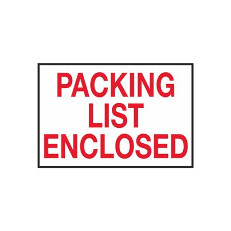 Packing List Enclosed - 2 x 3