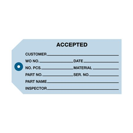 Accepted Inspection Tag 100pk - Blue