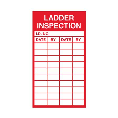 Inspection - Service Record Decals - Ladder Inspection 2.5 x 4.5