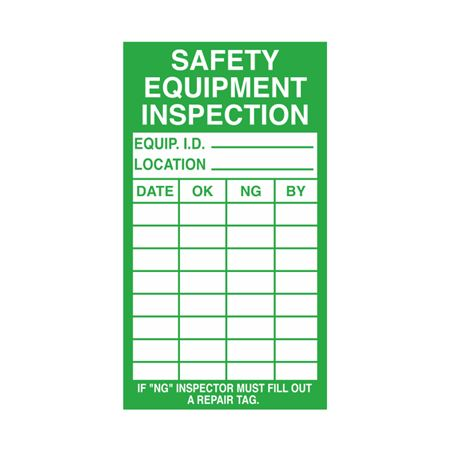 Inspection - Service Record Decals - Safety Equipment Inspection 2.5 x 4.5