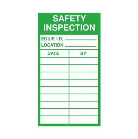 Inspection - Service Record Decals - Safety Inspection 2.5 x 4.5