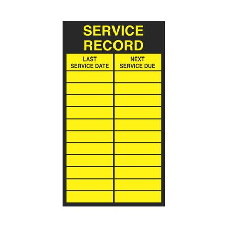 Inspection - Service Record Decals - Service Record Inspection 2.5 x 4.5