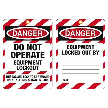 Jumbo Safety Tags & Accessories - Do Not Operate Equipment Lockout 7.75 in. x 11 in.