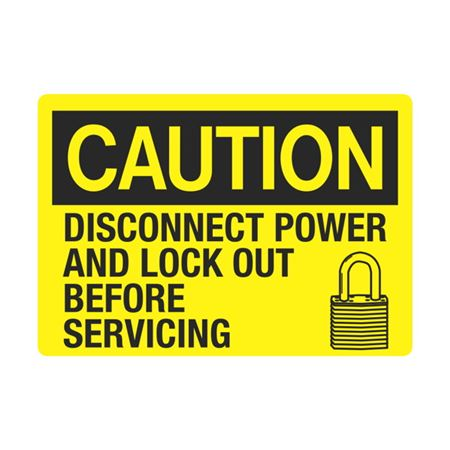 Caution Disconnect Power And Lock Out Before Servicing 3.5x5