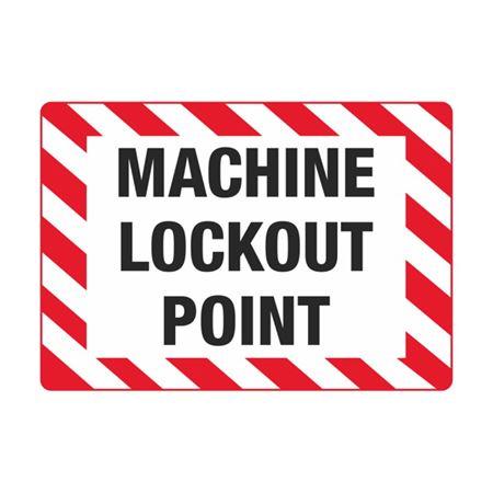 Electrical Decals - Machine Lockout Point 3.5 x 5