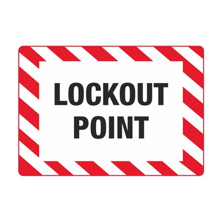 Electrical Decals - Lockout Point 3.5 x 5