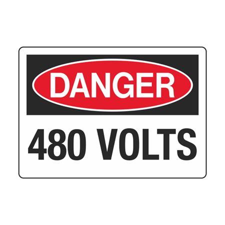 Electrical Decals - Danger 480 Volts 3.5 x 5