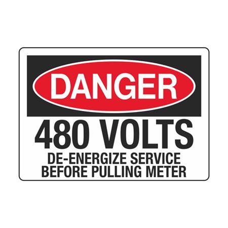 480 Volts De-Energize Service Before Pulling Meter 3.5 x 5