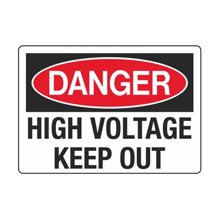 Electrical Decals - Danger High Voltage Keep Out 3.5 x 5