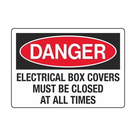 DangerElectricalBoxCoversMustBeClosed AtAllTimes 3.5 x 5