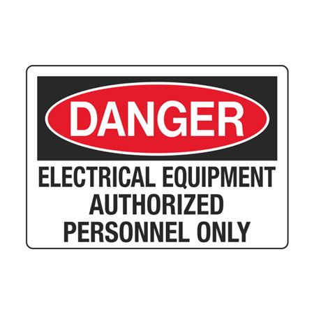 Electrical Equipment Authorized Personnel Only 3.5 x 5
