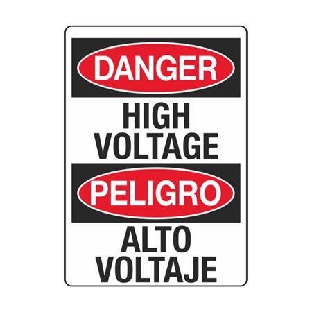 Electrical Decals - Danger High Voltage / Peligro Alto Voltaje 3.5 x 5