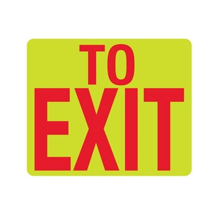 Luminescent To Exit 10x12 Sign