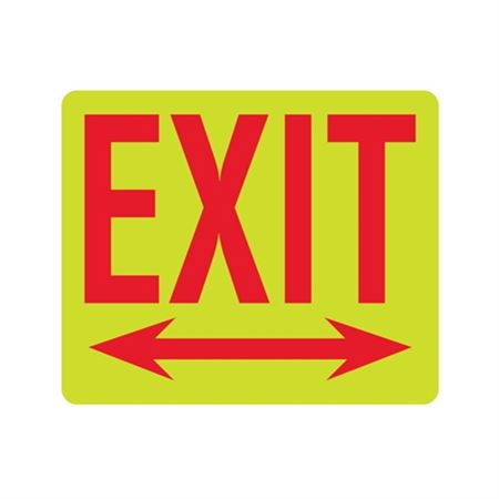 Luminescent Exit (Double Arrows) 10x12 Sign