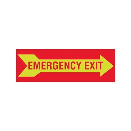 Luminescent Emergency Exit Graphic Right Arrow 4x12 Sign