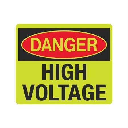 Luminescent Danger High Voltage 10x12 Sign