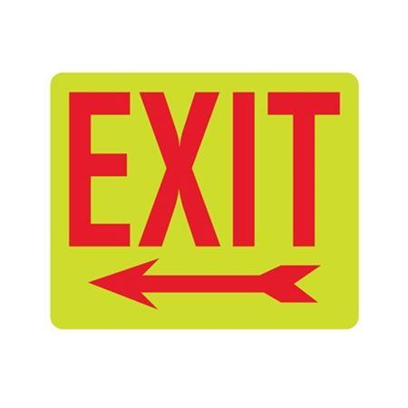 Luminescent Exit (Arrow Left) 10x12 Sign