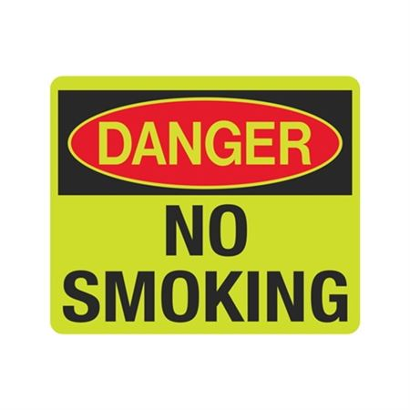 Luminescent Danger No Smoking 10x12 Sign