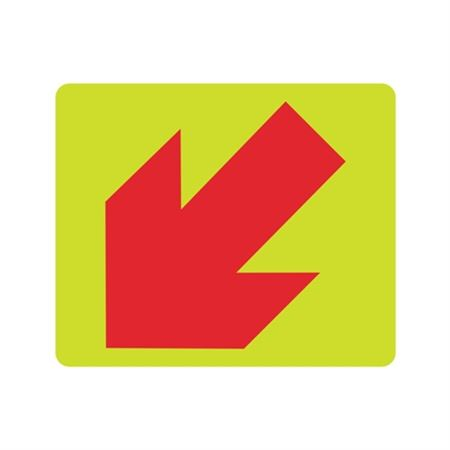 Luminescent (Graphic Down Left Arrow) 10x12 Sign