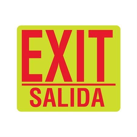 Luminescent Exit Salida 10x12 Sign