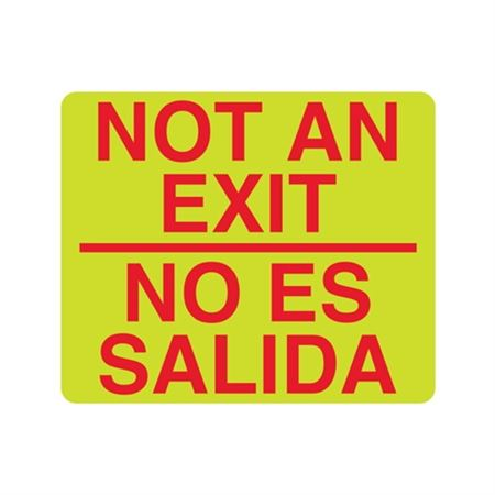 Luminescent Not An Exit No Es Salida Sign