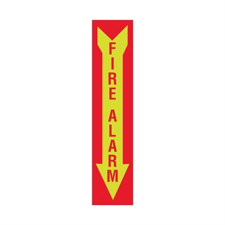 Luminescent Fire Alarm Graphic Arrow Down Sign 4x18