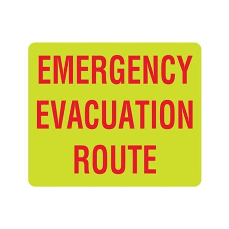 Luminescent Emergency Evacuation Route 10x12 Sign