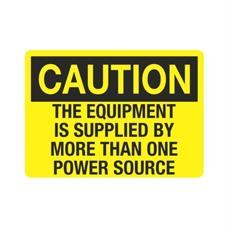 Caution Equipment Is Supplied By More Than One Power Source