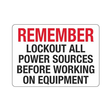 Remember Lockout Power Sources Before Working On Equipment