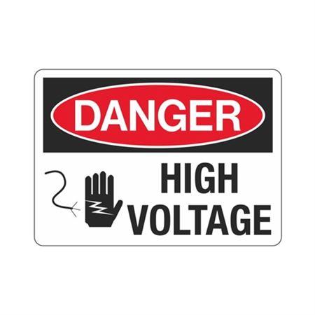 Danger High Voltage (Graphic) Sign