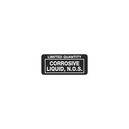 Limited Quantity Labels - Corrosive Liquid, N.O.S. 1 x 2 1/4