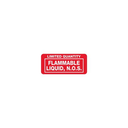 Limited Quantity Flammable Liquid, N.O.S. 1 x 2 1/4
