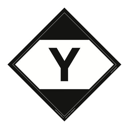 Limited Quantity Markings Placard Y