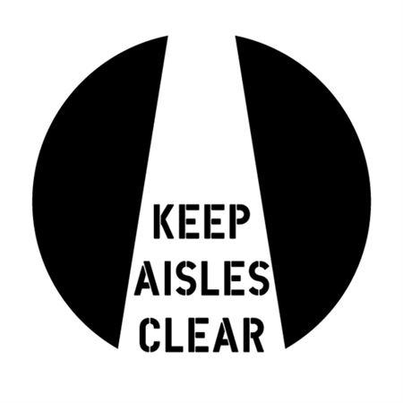 Keep Aisles Clear Stencil - 24 in. x 24 in.