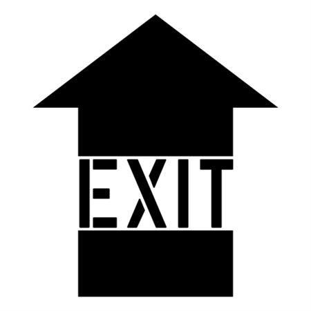 Exit Arrow Stencil - 24 in. x 24 in.