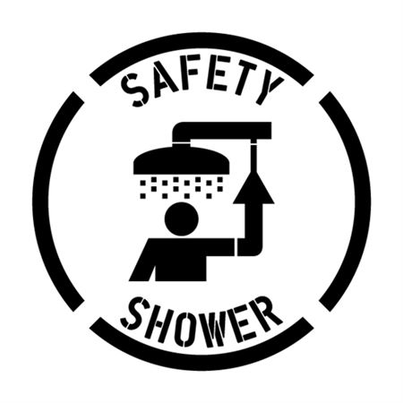Safety Shower Stencil - 24 in. x 24 in.