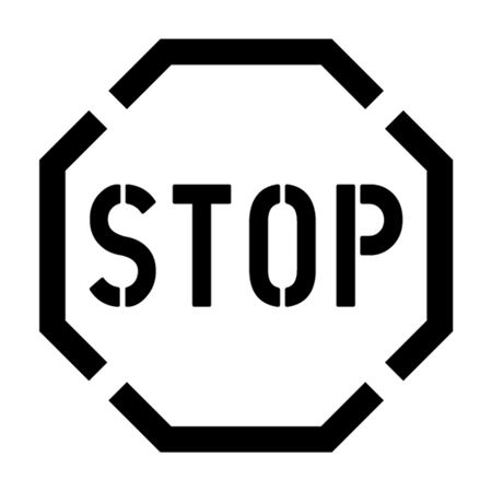 Stop Sign Stencil - 24 in. x 24 in.