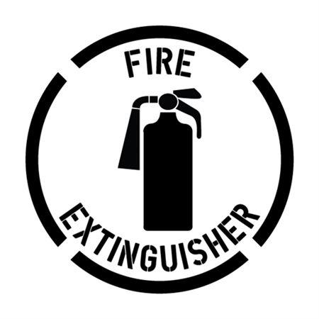 Fire Extinguisher Stencil - 24 in. x 24 in.
