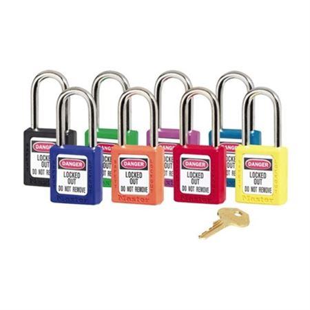 """Safety Locks Style 1 Keyed Alike-1 1/2"""" Shackle"""