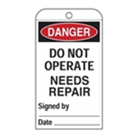 Self-Laminating Tags - Danger Do Not Operate - Needs Rep