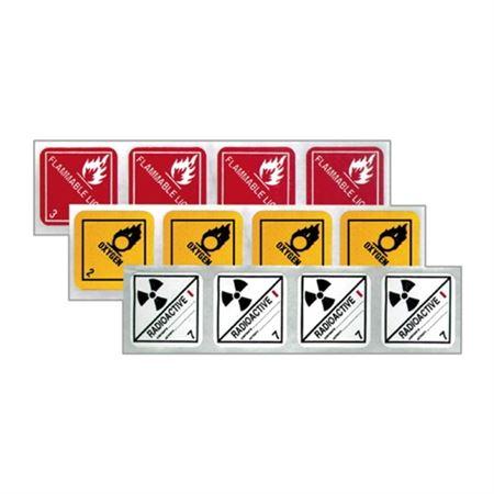 Mini Hazmat Labels - Flammable Liquid 1 x 1