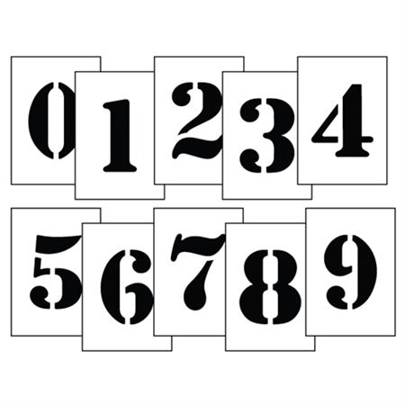 """Magnetic Stencil 2 to 12"""" Number Kits"""