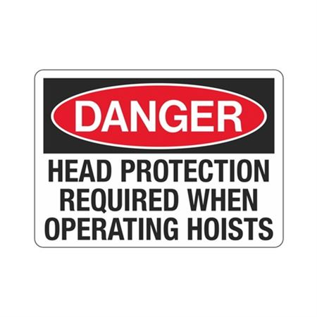 DangerHeadProtectionRequiredWhen OperatingHoists
