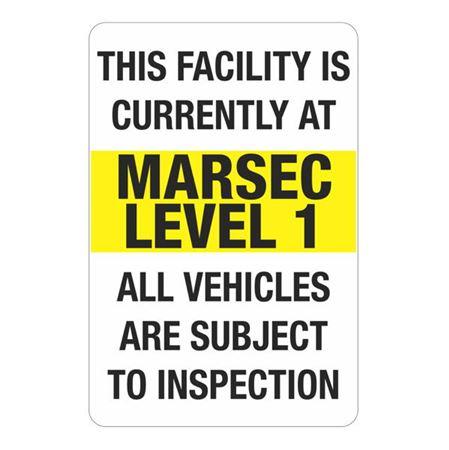 MARSEC Signs - Level 1 Marsec Sign 24 x 36