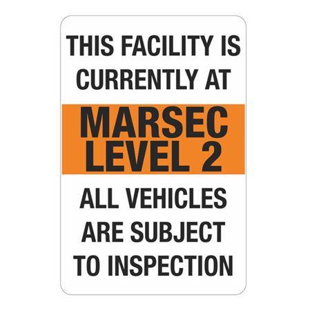 MARSEC Signs - Level 2 Marsec Sign 24 x 36