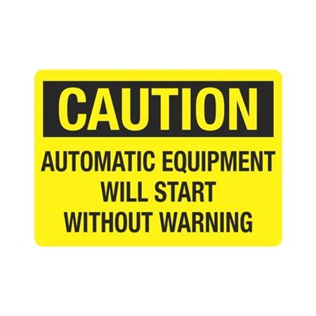 CautionAutomaticEquipmentWillStart WithoutWarning