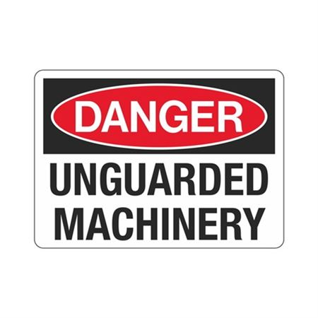Danger  Unguarded Machinery  Sign
