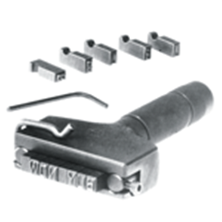 Steel Type Hand Model Type Holder - 12 Character Capacity, 1/4 Inch High Holder